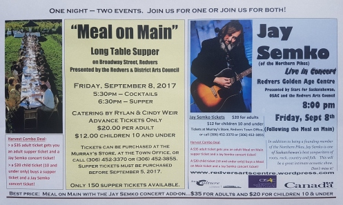 Meal on Main & Jay Semko photo poster